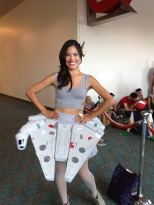 And the winner is Jennifer in her Millennium Falcon dress!