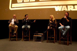 Me, Dave Filoni, Cary Silver and Pablo Hildago during the Q&A