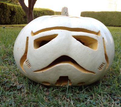 Stormtrooper Pumpkin 1