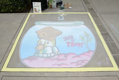 1st Place: Chalk Full of Nuts! : Sarah Garcia, Luxie Aquino & Lyka Santos (Photo: Stacey Leong)