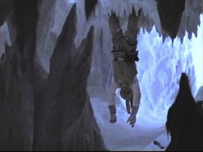 Luke Skywalker in cave