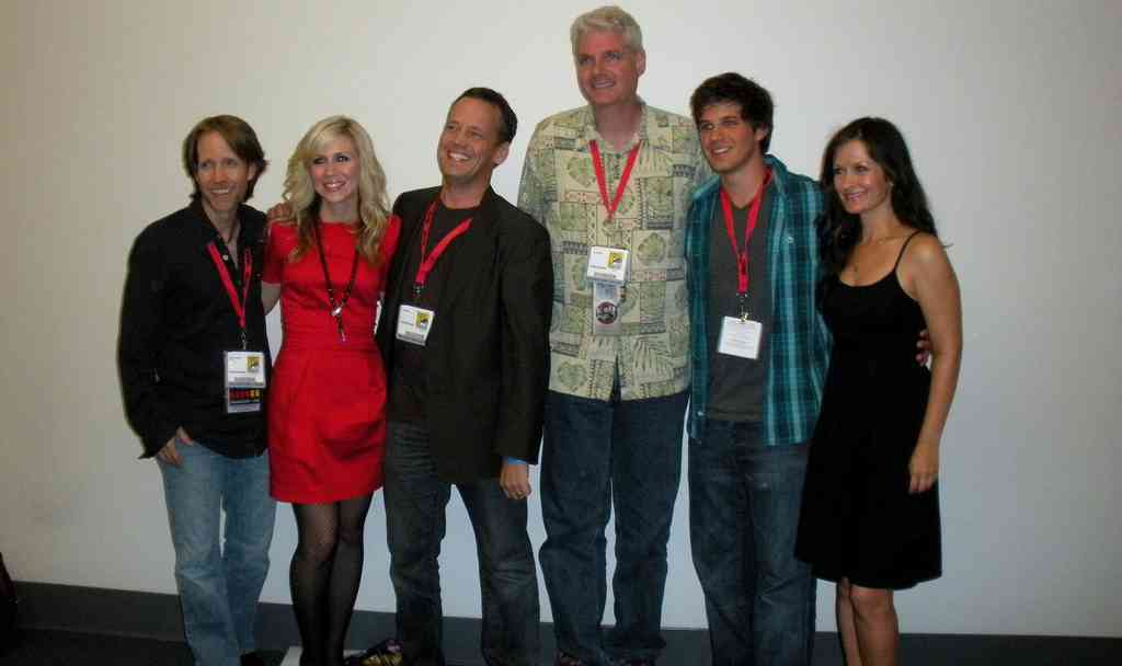 This was right after our panel in Hall H that was hosted and televised by G4! Whew, I was so nervous!