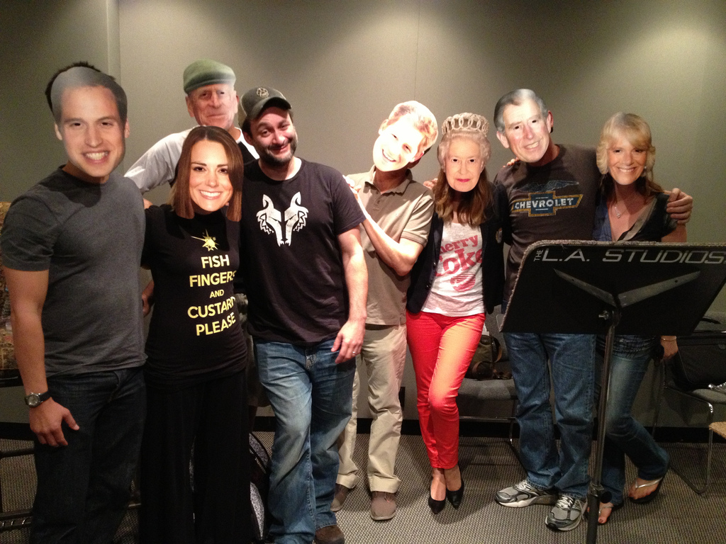 Sometimes we have too much fun in the studio! Dave never actually knows, who is going to show up for work!