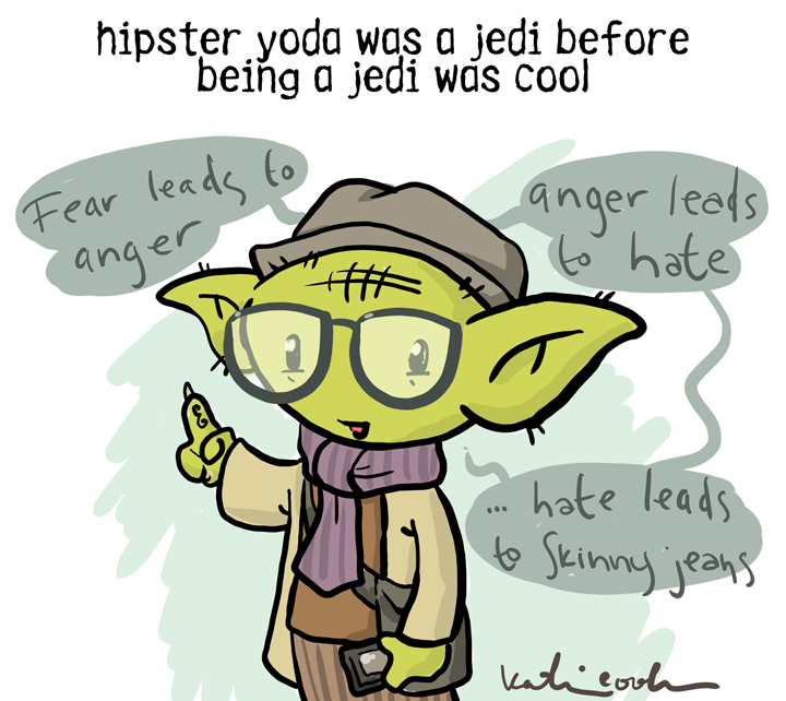 Hipster Yoda