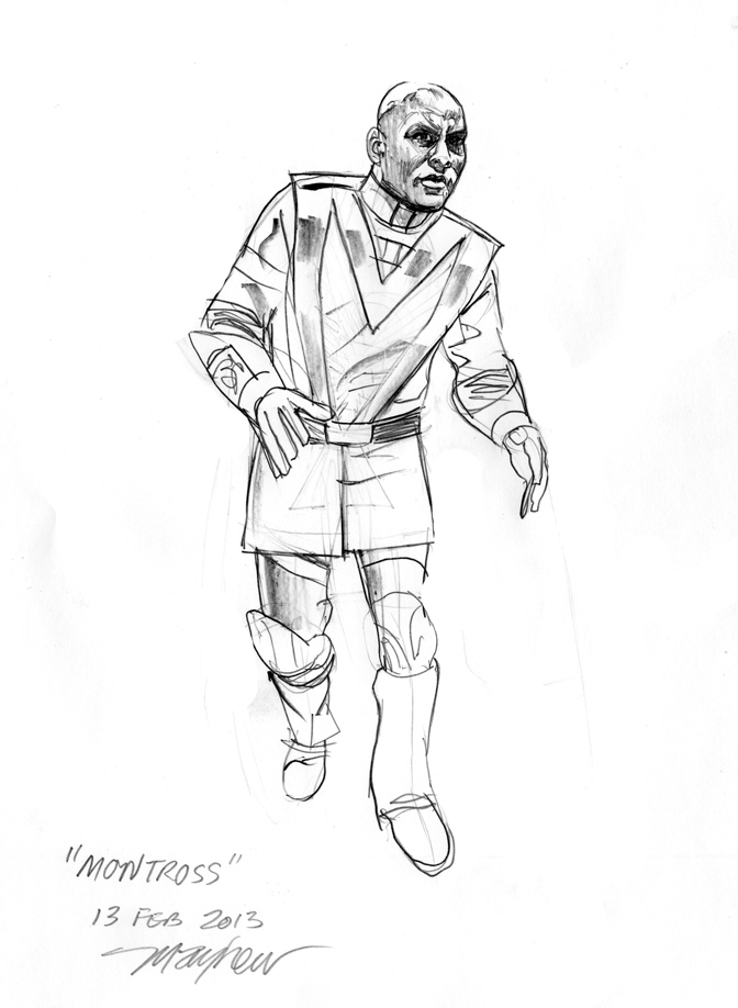 Mike Mayhew's sketch of Montross.