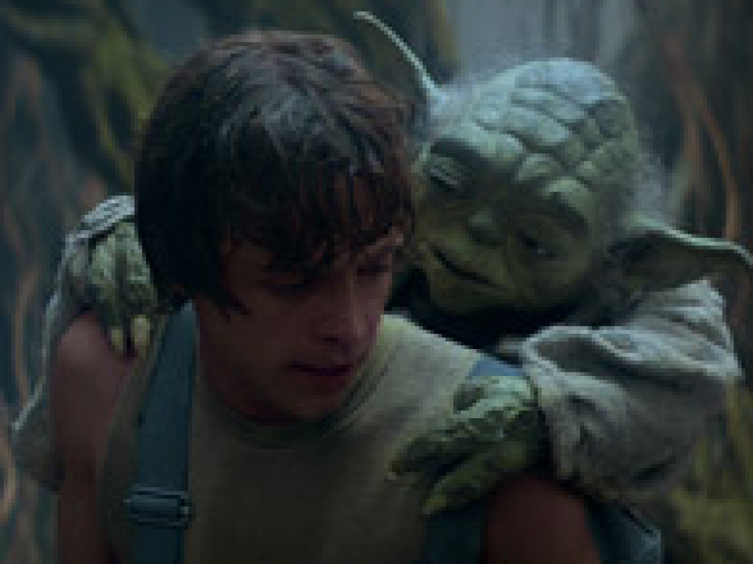 Yoda and Luke on Dagobah