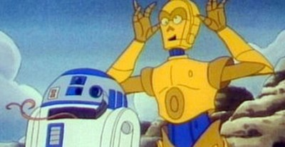 C-3PO and his counterpart, R2-D2