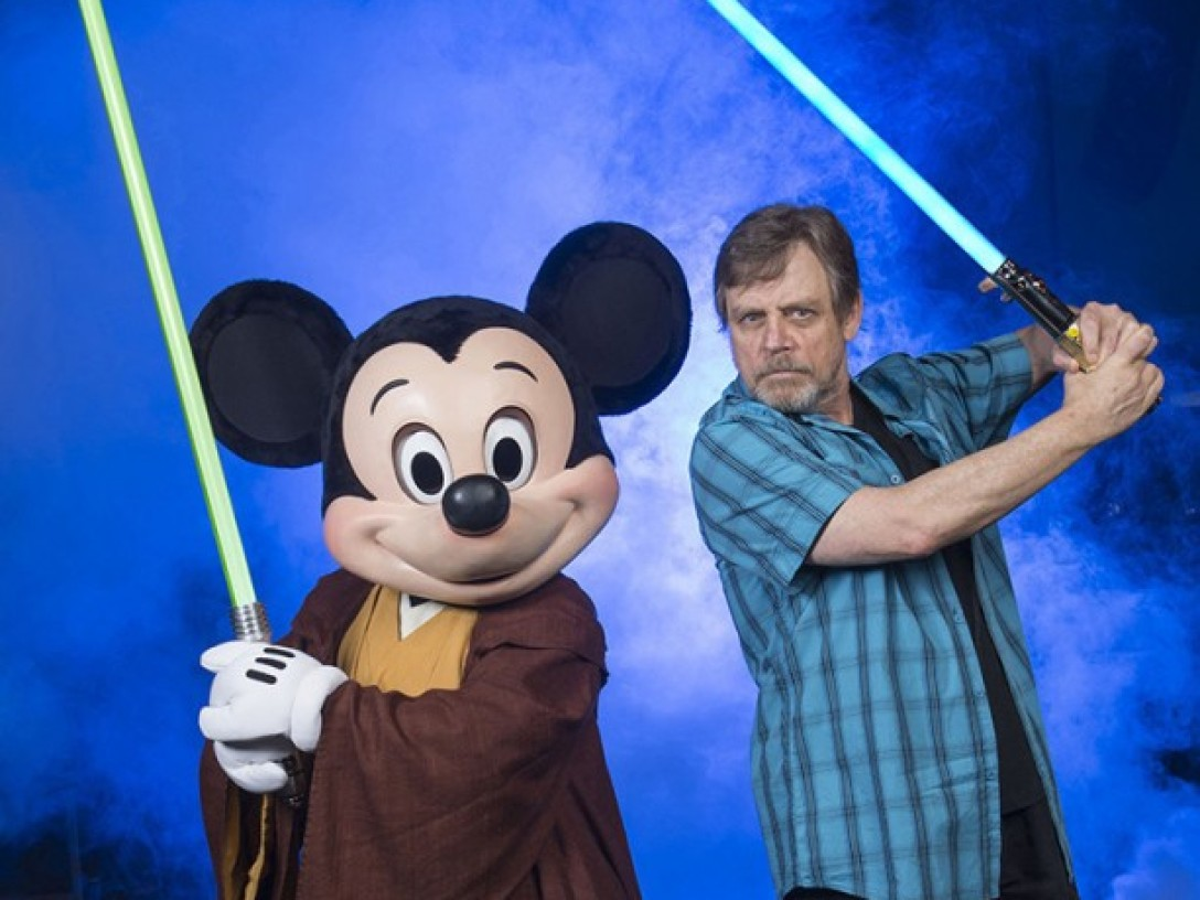 Mark Hamill with Jedi Mickey at Star Wars Weekends