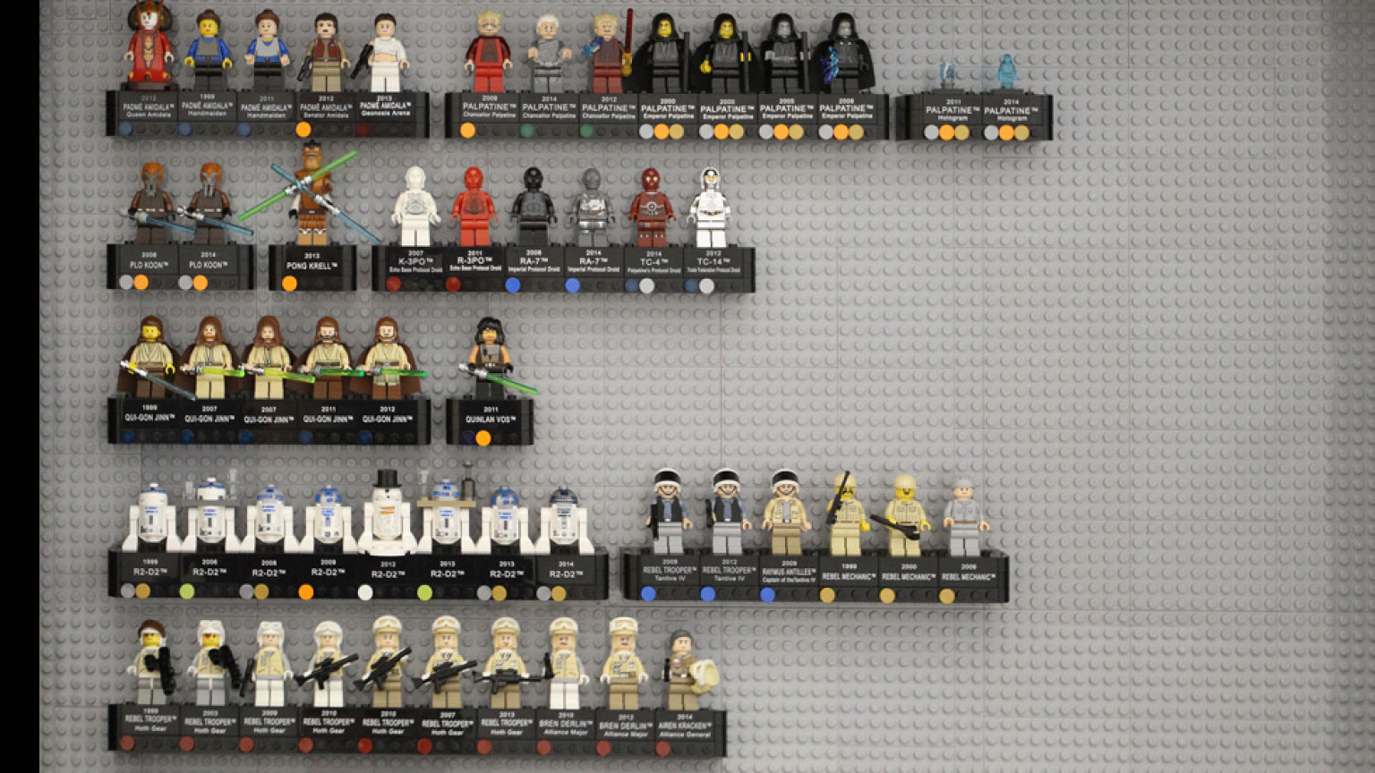 massive lego star wars 15th anniversary minifigure case. Black Bedroom Furniture Sets. Home Design Ideas