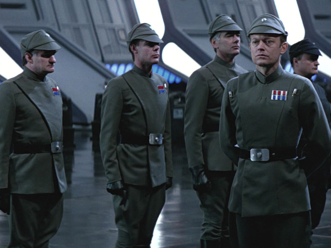Imperial officers from Return of the Jedi
