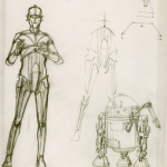 Star Wars and The Power of Costume - C-3PO and R2-D2 concept art