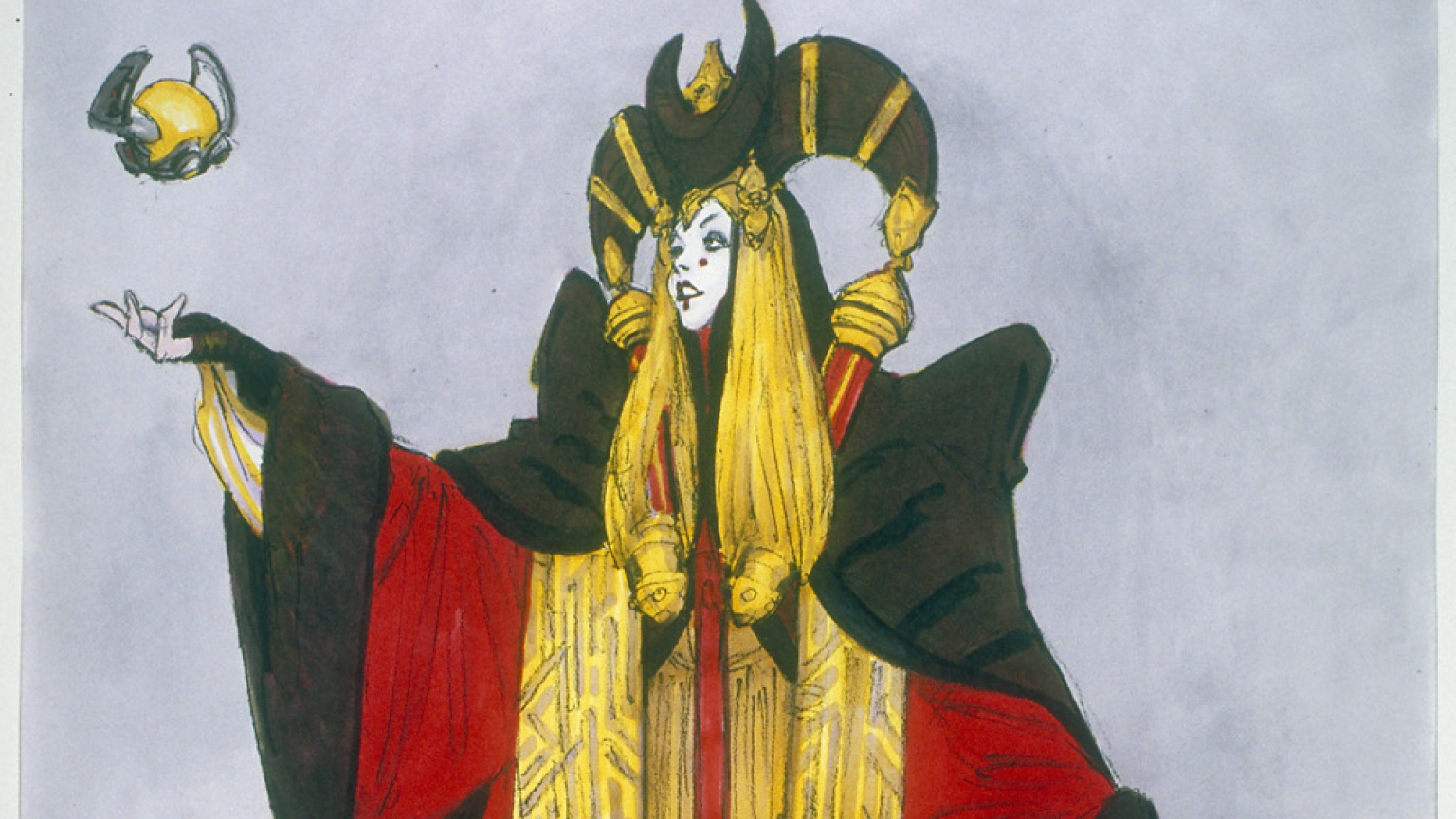 Star Wars and The Power of Costume - Queen Amidala concept art