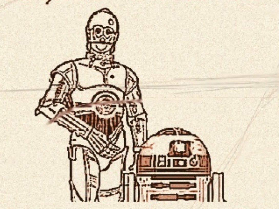 Early concept art for Droid Hunt flyers, courtesy of Mountain Garrison