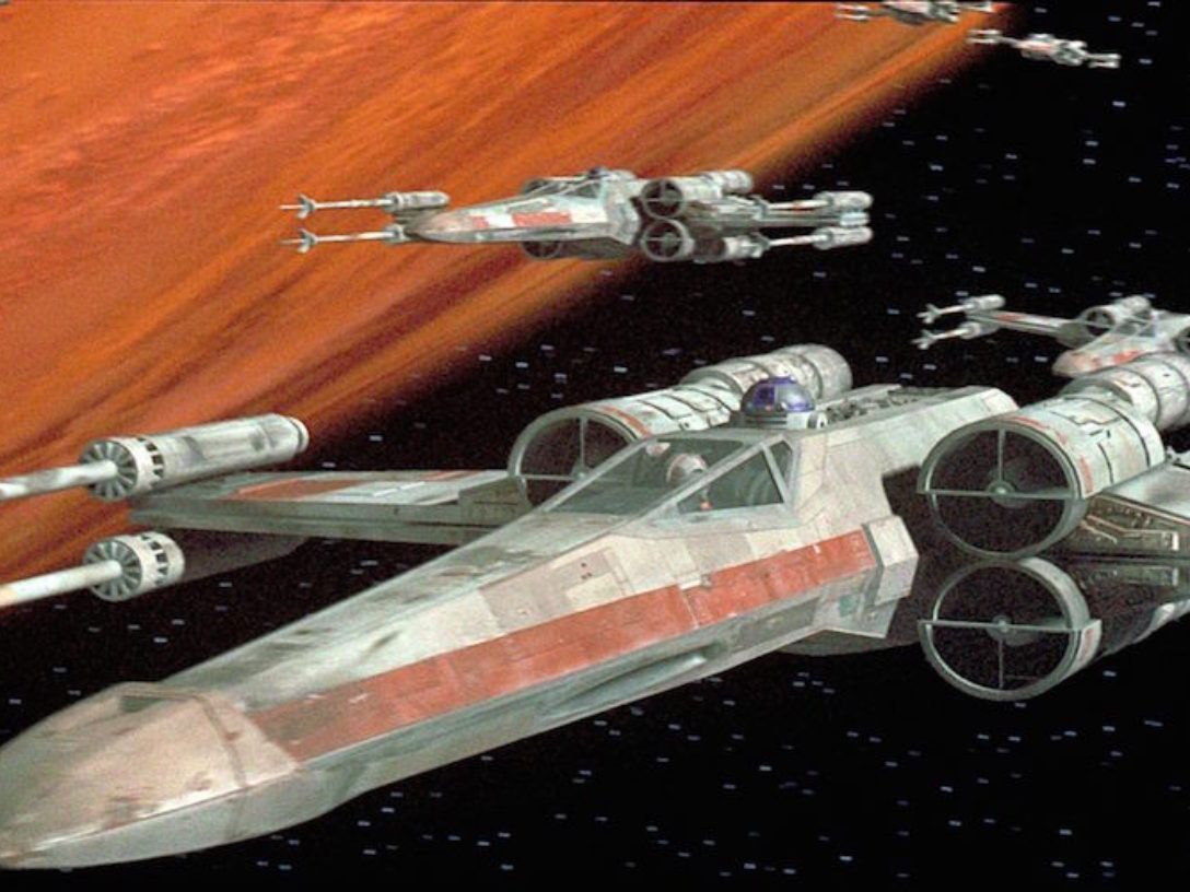 X-wing fleet in Star Wars: A New Hope