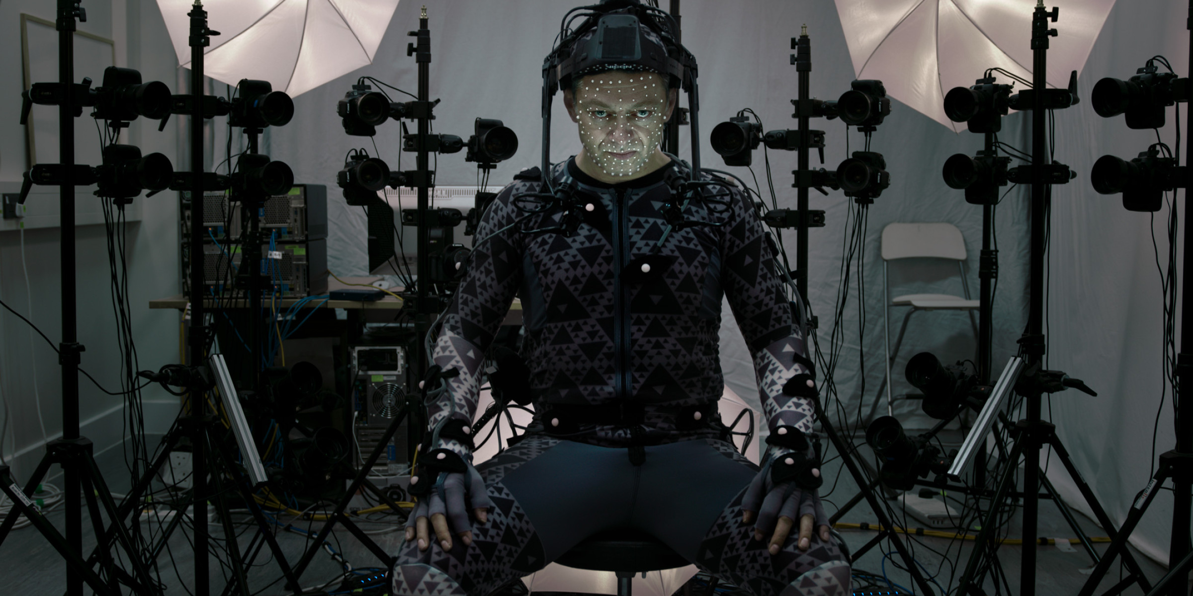 Andy Serkis as Supreme Leader Snoke in Star Wars: The Force Awakens