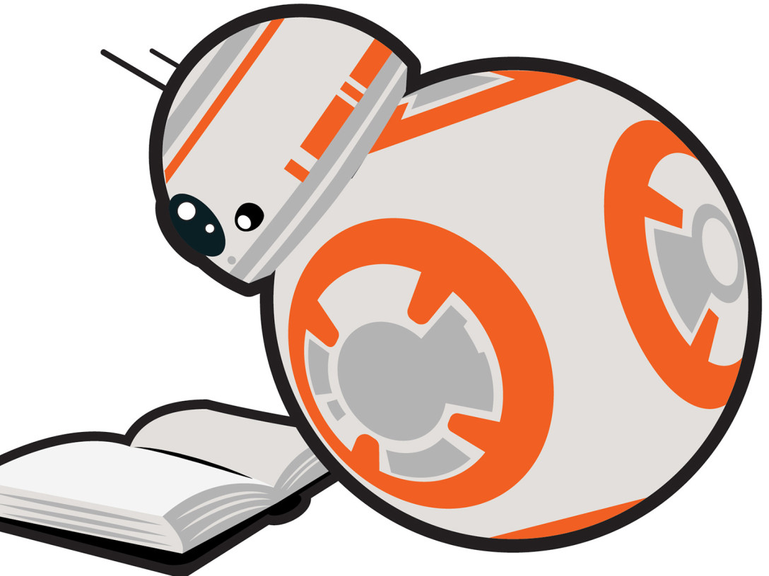Star Wars Reads Day logo with BB-8