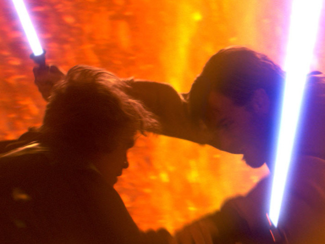 Anakin Skywalker vs. Obi-Wan Kenobi in Revenge of the Sith