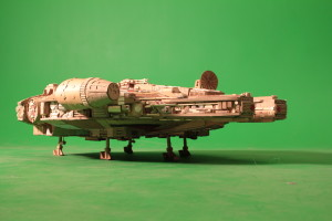 Millennium Falcon cardboard replica - side view