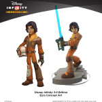 Disney Infinity Ezra concept art with final figure