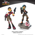 Disney Infinity Sabine concept art with final figure