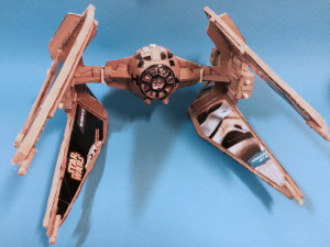 Tie Interceptor cardboard replica