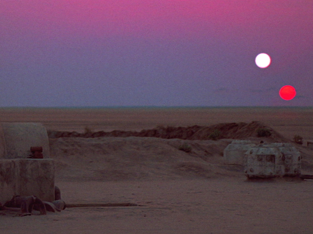 Tatooine sunset from A New Hope