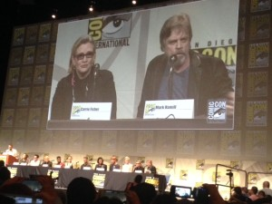 Carrie Fisher and Mark Hamill at San Diego Comic-Con 2015