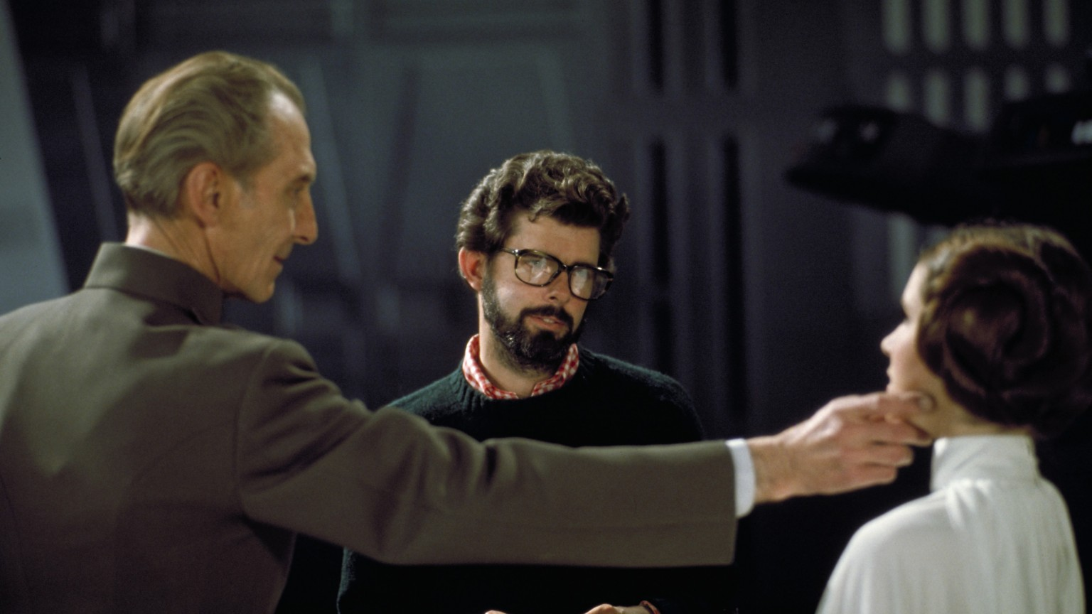 George Lucas on the set of Star Wars: A New Hope