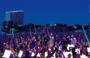 Lightsabers at the San Diego Symphony and John Williams concert, San Diego Comic-Con 2015