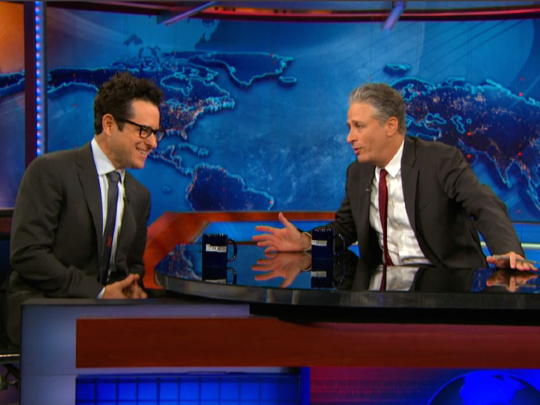 J.J. Abrams and Jon Stewart
