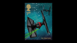 TIE fighter stamp