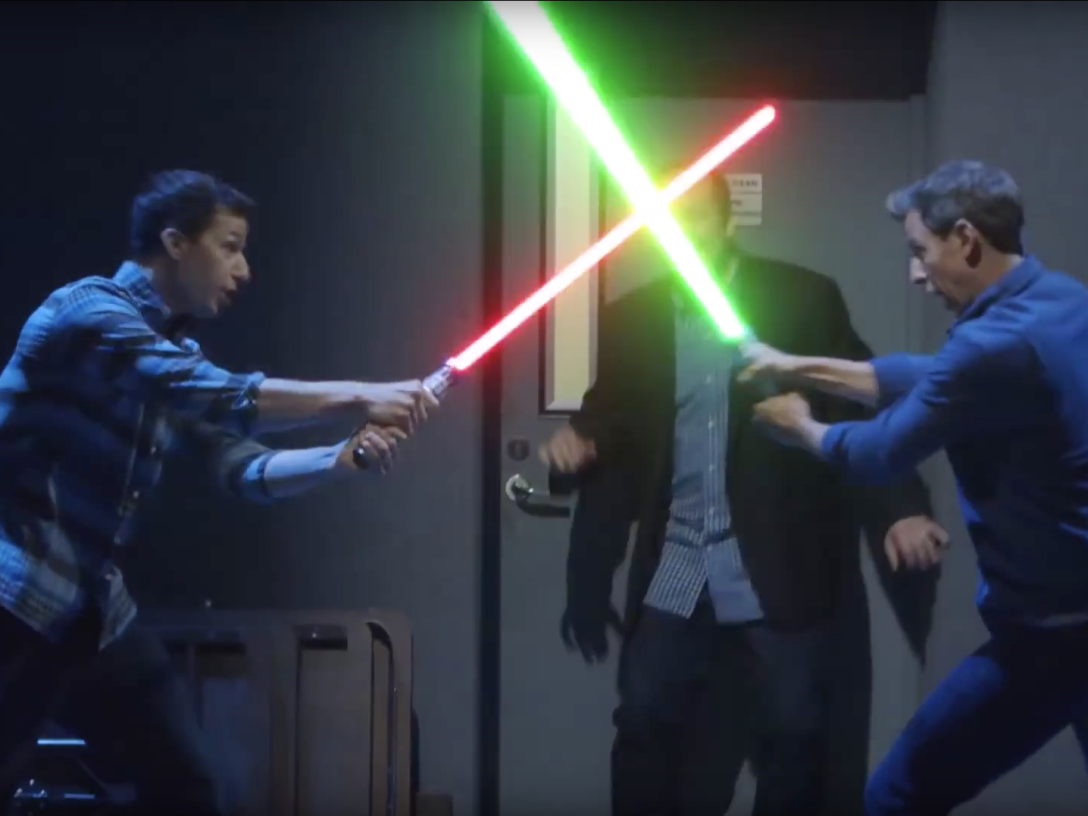 Comedy lightsaber duel