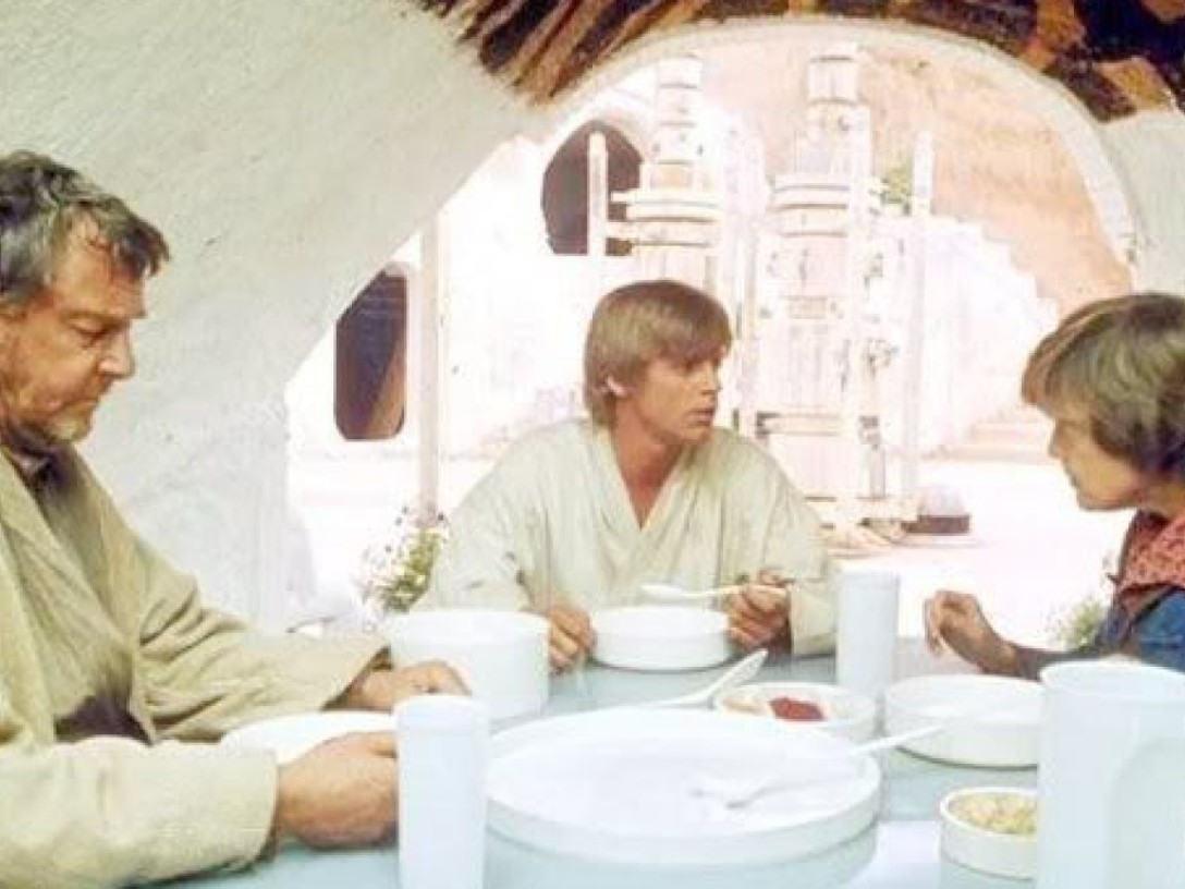 Episode IV - Luke, Uncle Owen, Aunt Beru eating