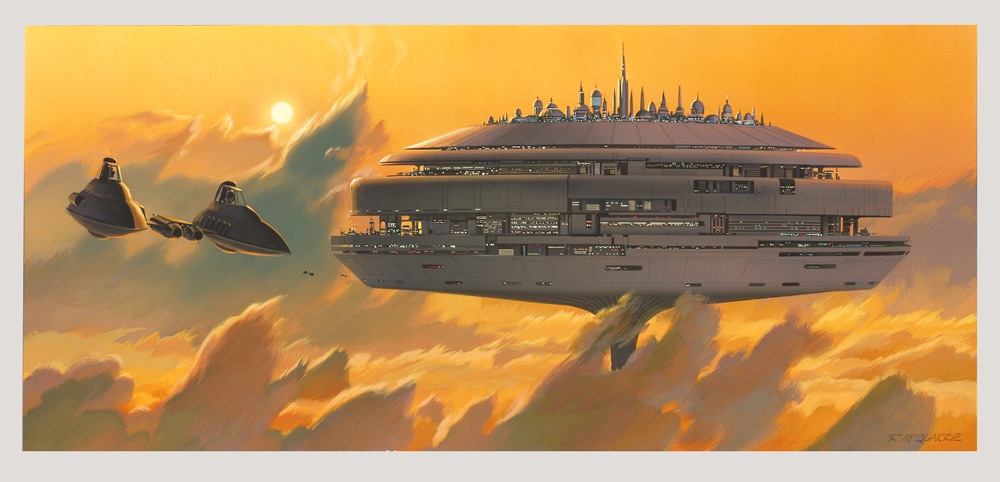 McQuarrie - Cloud City Concept Painting