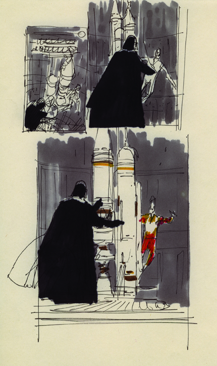 McQuarrie - Vader Concept Cover Drawing