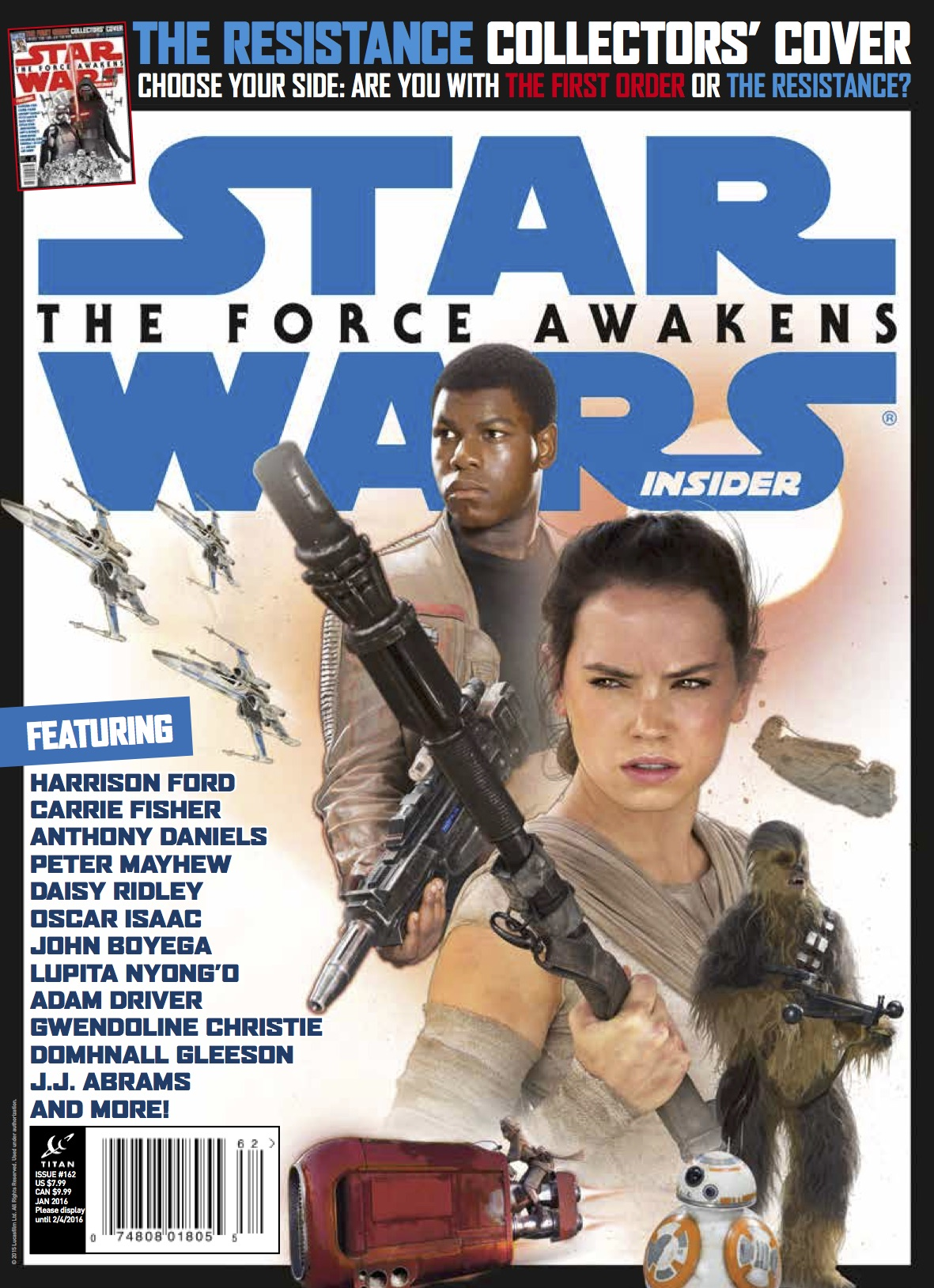 Star Wars Insider Rey and Finn Cover
