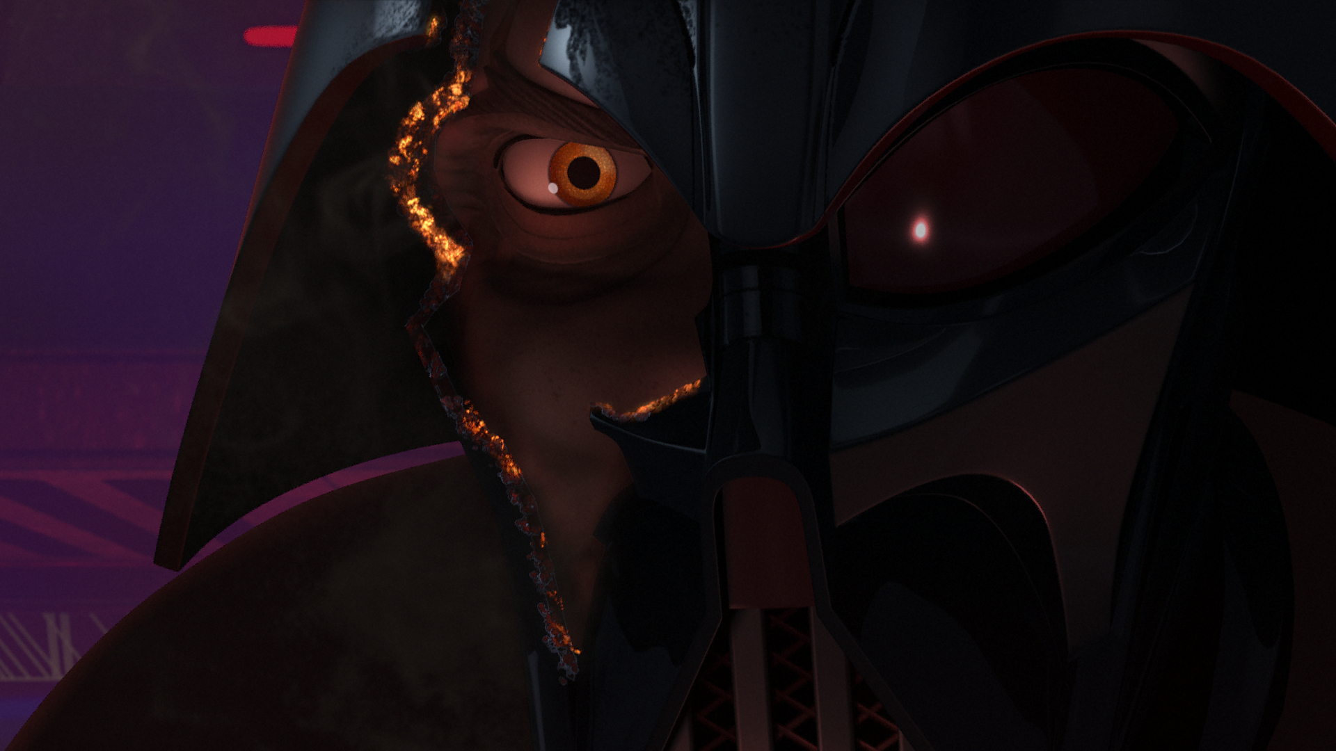 Twilight of the Apprentice - Vader with broken mask