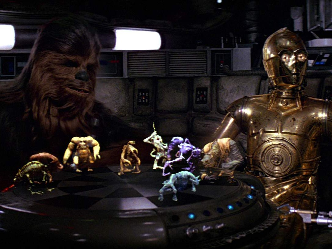 A New Hope - Chewie and C-3PO playing Dejarik