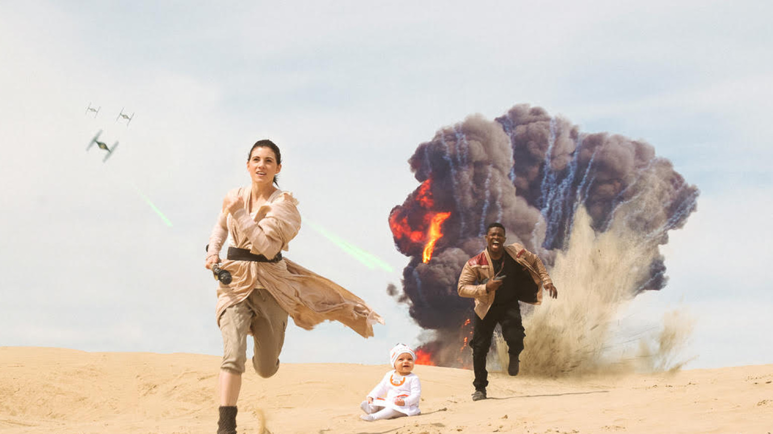 Finn and Rey Cosplay