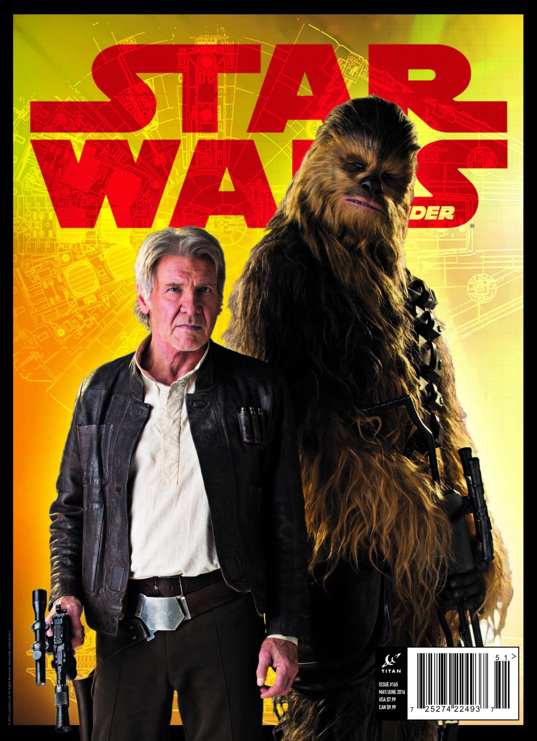 Star Wars Insider 165 Han and Chewie Cover