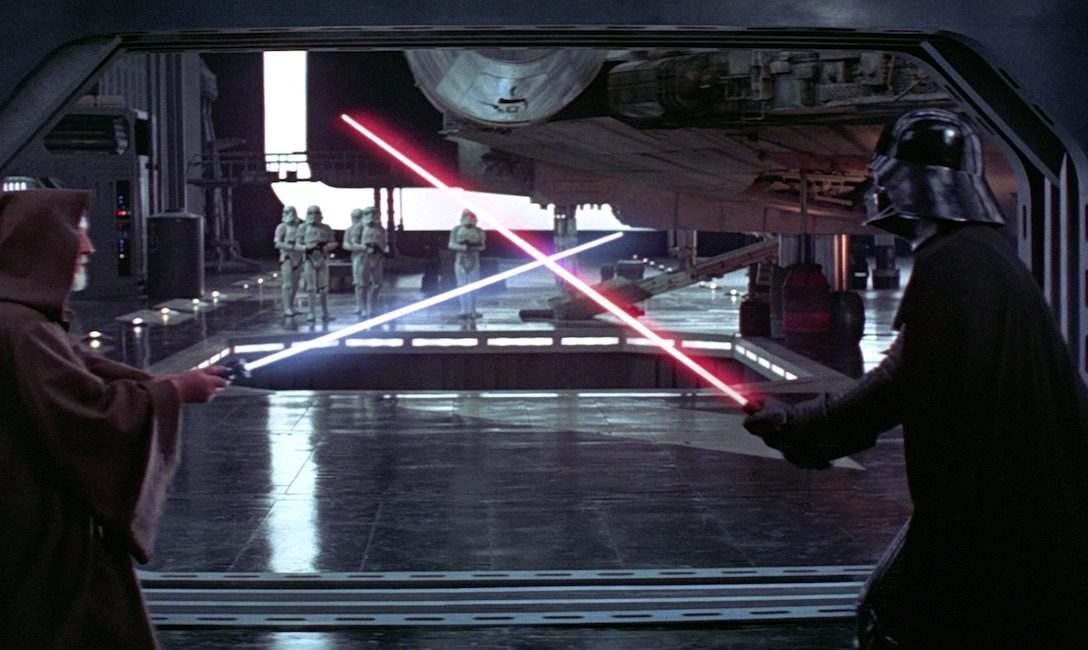 A New Hope - Obi-Wan and Darth Vader face each other