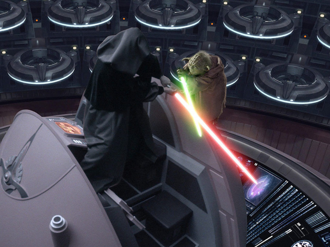 Revenge of the Sith - Yoda vs. the Emperor