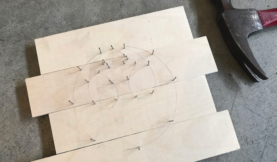 This rebel alliance string art binds the galaxy together next hammer the small nails to outline the template you traced be sure to place nails on each angle so that the symbol is easily recognizable prinsesfo Choice Image