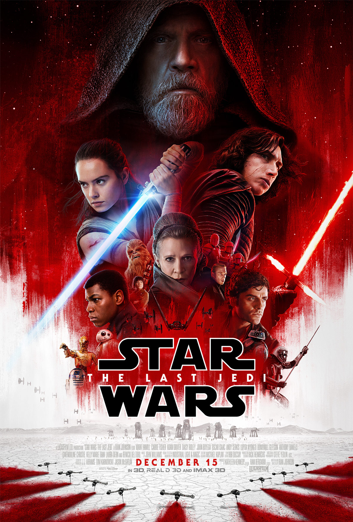 star wars the last jedi theatrical poster revealed. Black Bedroom Furniture Sets. Home Design Ideas