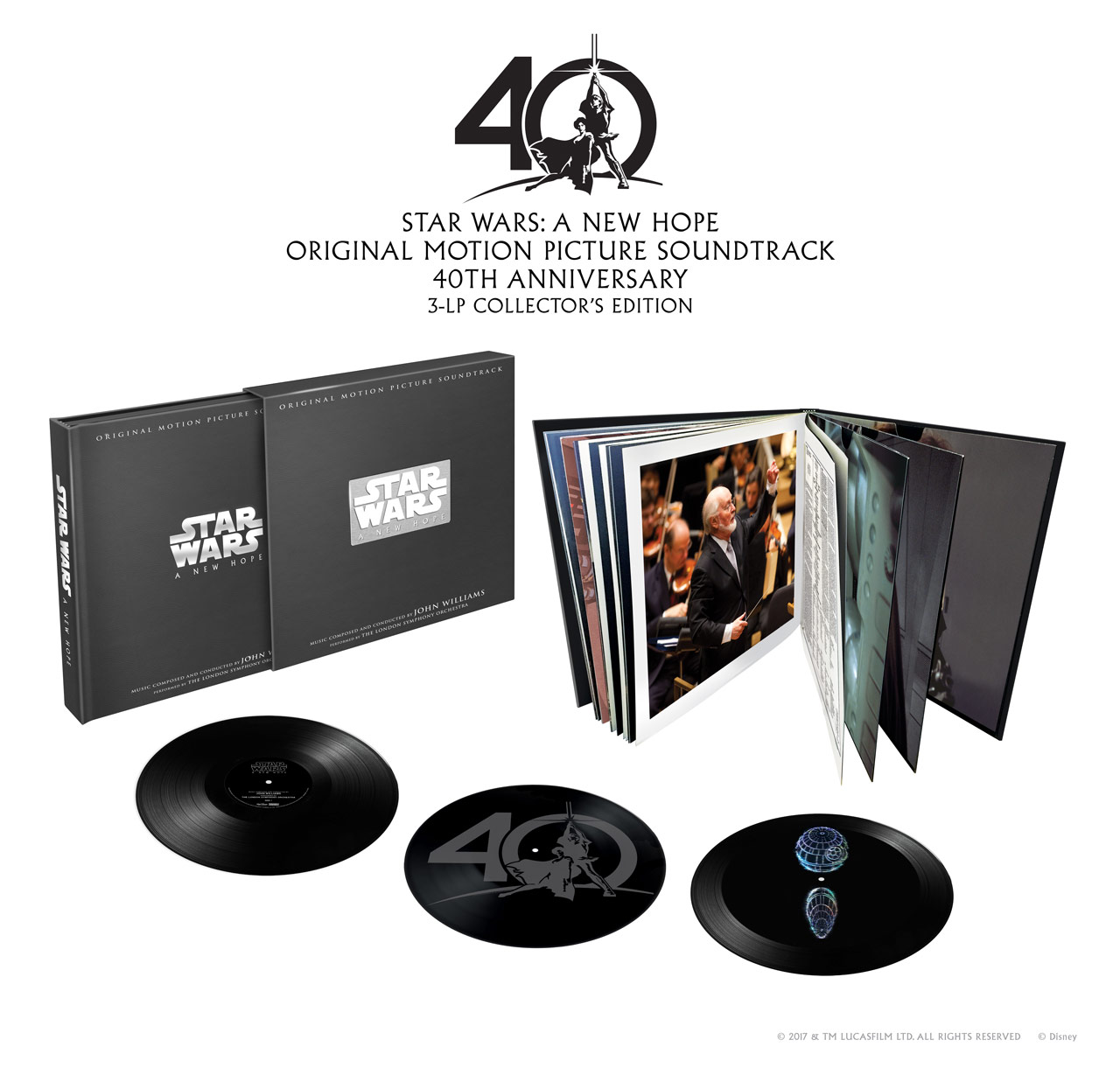 star wars a new hope soundtrack vinyl box set coming  the box set will also include rare behind the scenes photos from the film s production and scoring sessions along two essays in the accompanying
