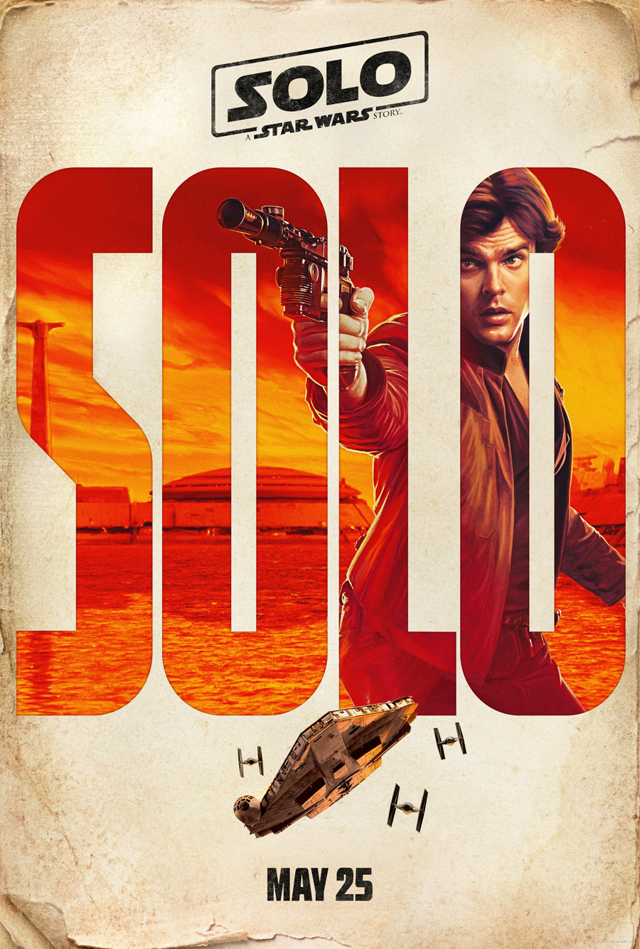 A promotion poster for Solo: A Star Wars Story