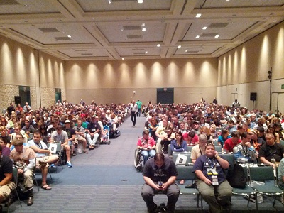 A full house for the Star Wars and NASA panel!