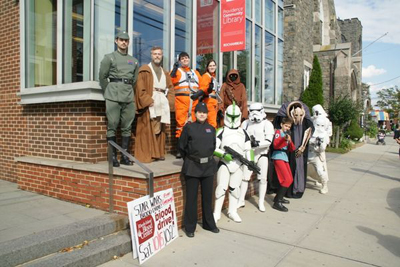 The 501st and Rebel Legion will return to the Rochambeau Library in Providence, RI, for Star Wars Reads Day on October 6.