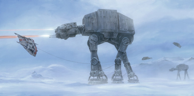 Walker Invasion Hoth At At Star Wars William Silvers