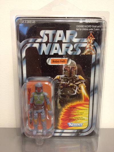 The 2010 mail-away Boba Fett figure, in package